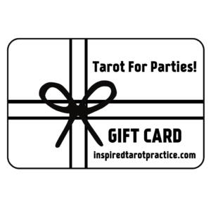 Illustration of an inspiredtarotpractice.com Gift Cards. Give Gift Cards for any inspired occasion.